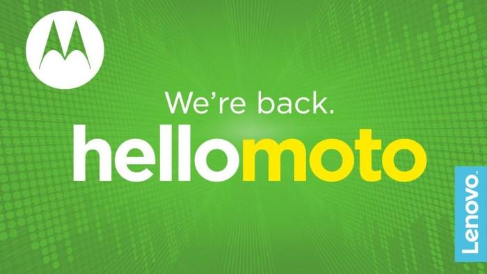 Moto vuelve a ser Motorola y nos explican sus razones