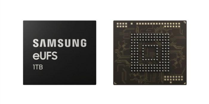 Samsung presenta la primera memoria eUFS 2.1 de 1 TB para smartphones