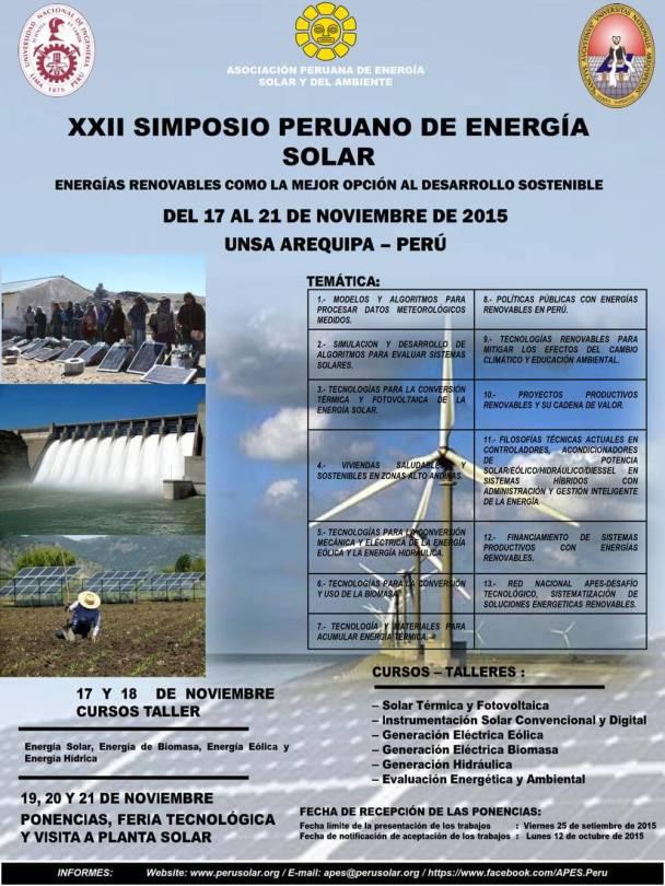 APES, Simposio 2015 en Arequipa