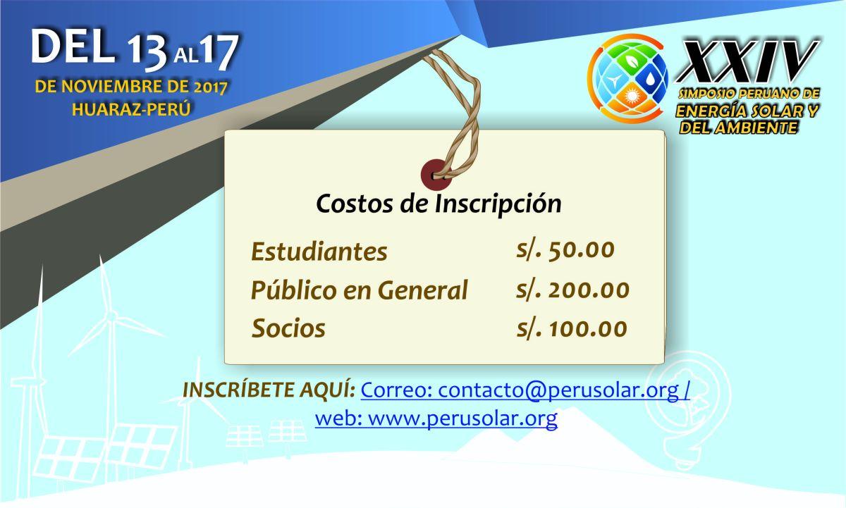 XXIV SPES 2017 - Costo de inscripción