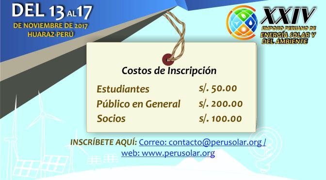 XXIV SPES 2017 – Costo de inscripción