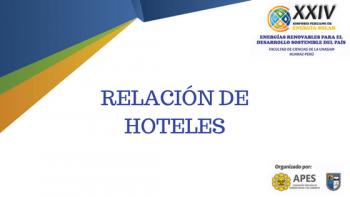 RELACION DE HOTELES XXIV SPES