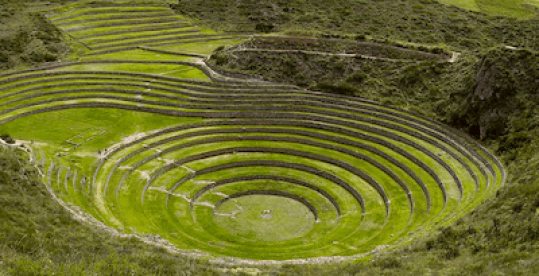 Circular Terraces at Moray, Peru