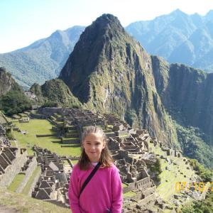Sofía at Machu Picchu