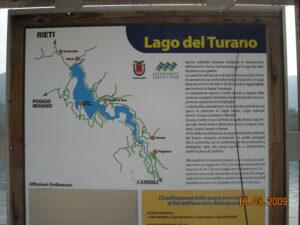 pianta lago del Turano