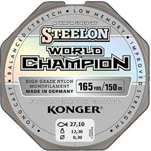 Konger, World Champion, lenza in fluorocarbonio, 0,10-0,30mm/150m, lenza monofilo super forte di alta qualità-