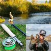 Sougayilang Canna da Pesca Fly Reel Combos con Leggero Portatile Canna da Pesca a Mosca e fresato CNC in Lega di Alluminio Fly Reel, Fly Fishing Completo Starter Kit