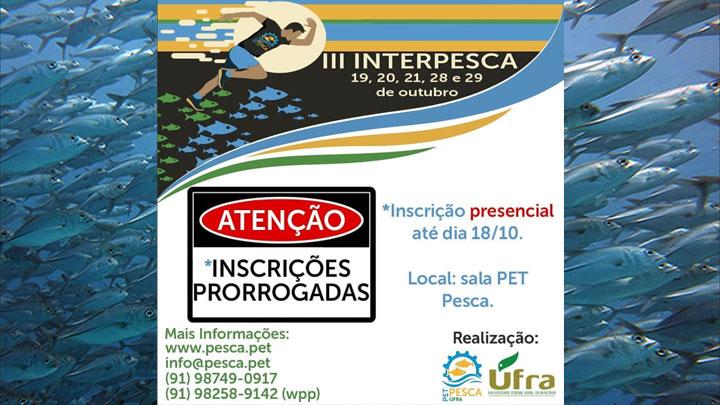 Inscrições presenciais – INTERPESCA