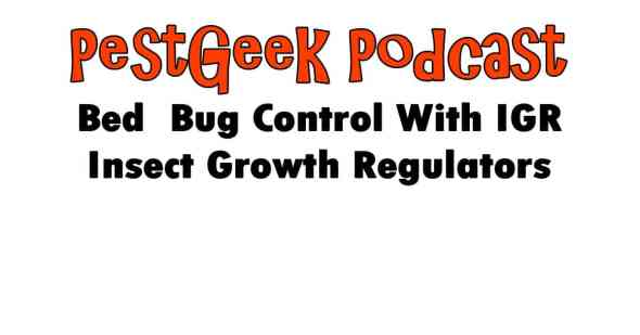 Bed Bug Control With IGR Insect Growth Regulators