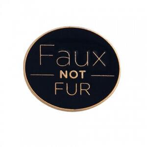 Faux Not Fur PETA pin