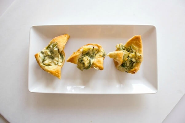 Vegan Spinach and Artichoke Dip Cups 1