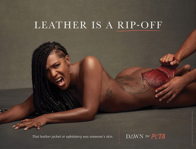 Dawn, leather billboard