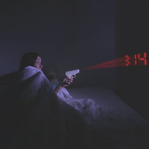 Secret Agent Shooting Alarm Clock