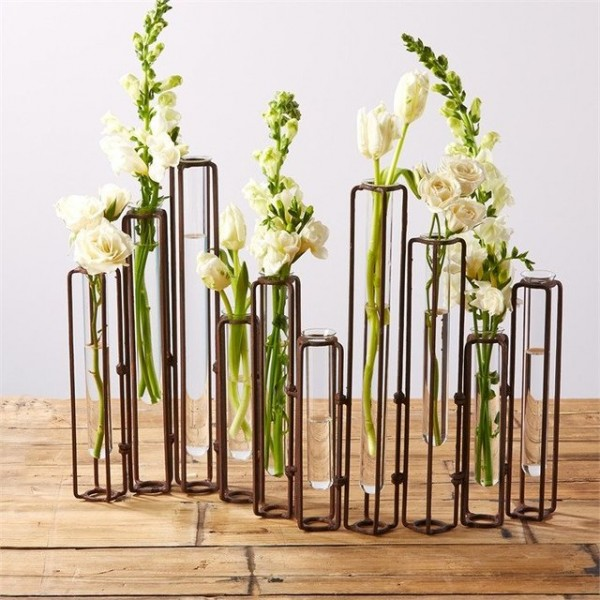 Rust Hinged Flower Vases by Tozai