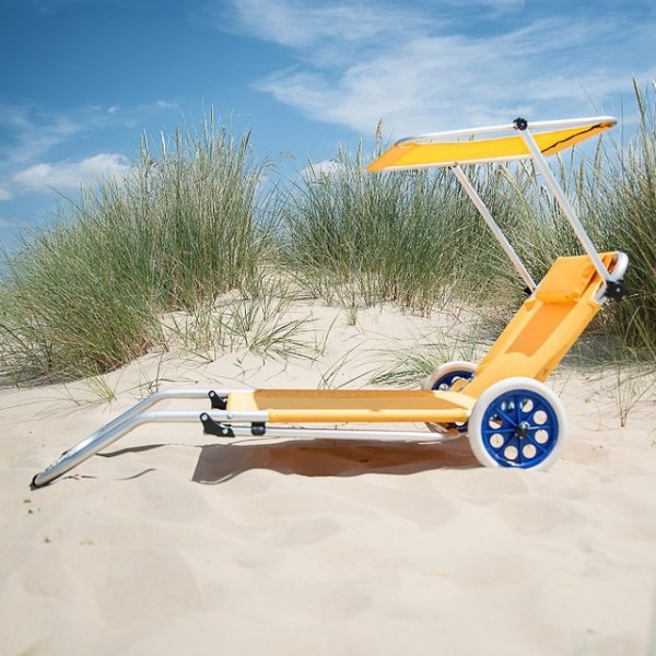 Lemon Sun Lounger Trolley by Roll On Summer