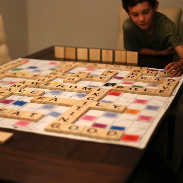 Giant Wooden Words Game