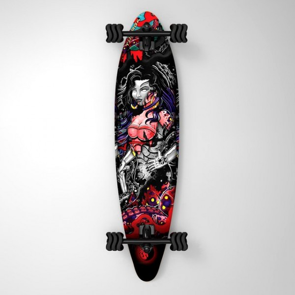 Turaga Shark Wheel Pintail Longboard