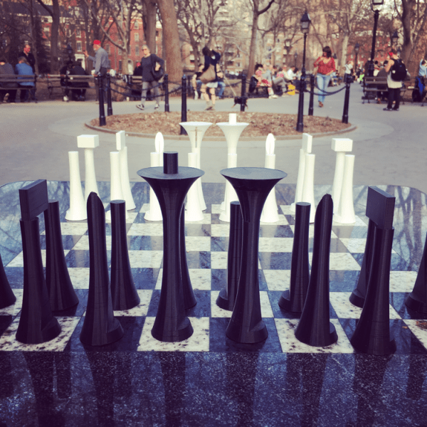 3D Printed Large Chess Set