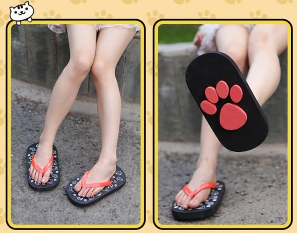 D-Sun Animal Footprint Sandals