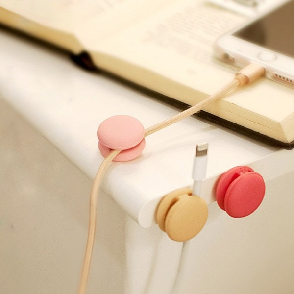 Macaron Shaped Desktop Cable Management