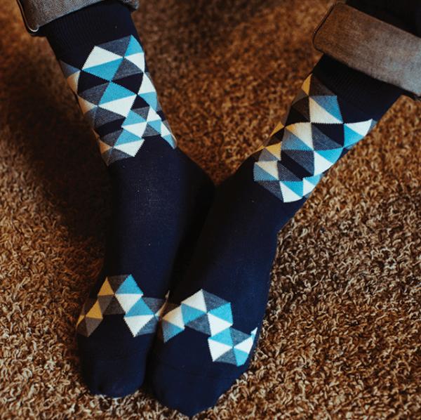 Umbrella Crew Socks by Strollegant
