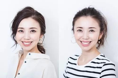 玉村麻衣子さんのママメイク2パターン