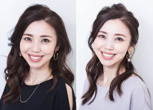 玉村麻衣子さんのオフィスメイク2パターン