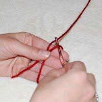 Magic Circle Crochet Step 3: Insert your hook through the loop
