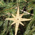 Crocheted Star of Bethlehem Ornament