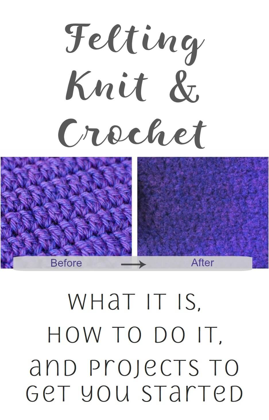 What is felting and how do you felt your knit and crochet items? I answer those questions and more and set you up for your first felting project. #petalstopicots