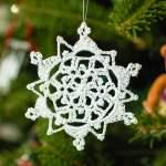 Pretty Picot Snowflake Crochet Pattern