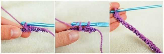 How to crochet around pipe cleaners