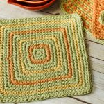 Seeing Squares Dishcloth