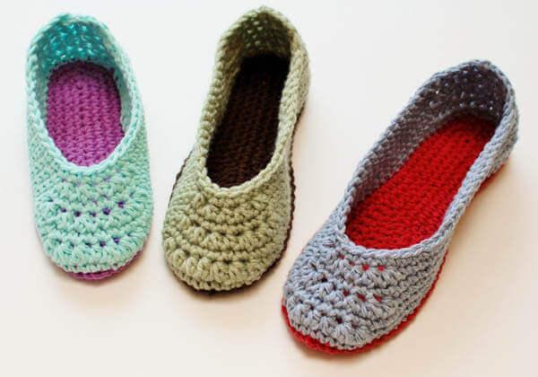 Slippers Crochet Pattern