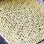 Tunisian Crochet Dish Drying Mat