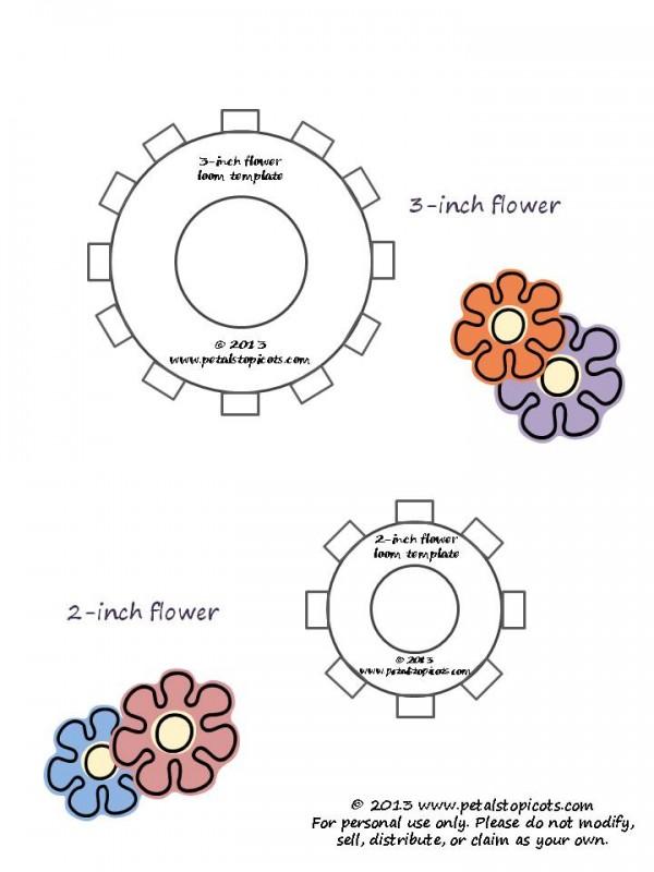 Flower Loom Templates