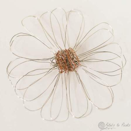 wire loom flower
