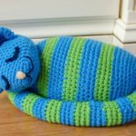 Sleepy Kitty Doorstop pattern by Brenda K. B. Anderson