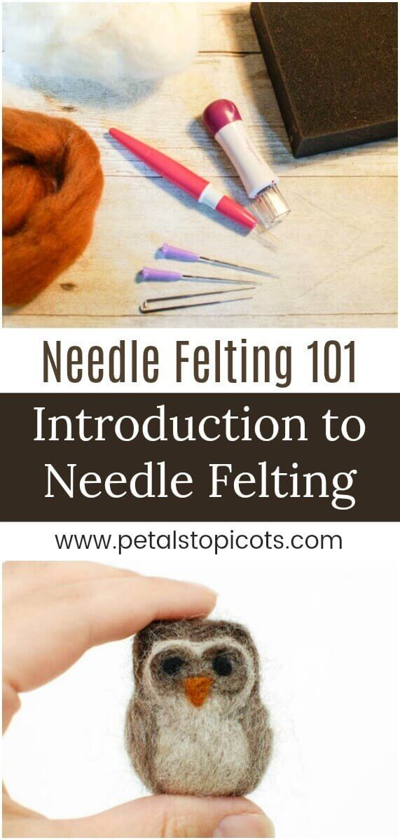 I can't wait to dig into this Introduction to Needle Felting with you! If you follow along with me on Instagram you know how much I love needle felting. There is just something so relaxing about it ... taking a handful of fluffy wool, poking it until it molds into the shape you want. #petalstopicots