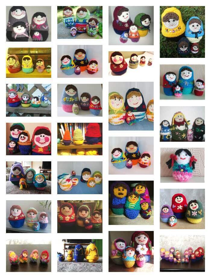 nesting dolls collage