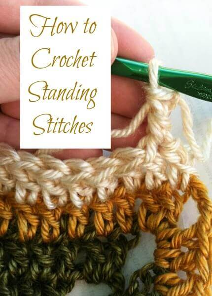 Crochet Standing stitches are an alternative to beginning chains and are a handy trick to learn. They look just like a stitch because they are a stitch! #petalstopicots