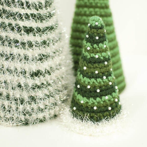 Cone Christmas Tree Crochet Patterns Petals To Picots