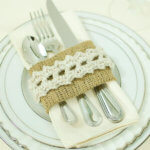 Burlap and Lace Place Settings