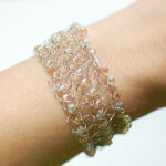 Beaded Wire Crochet Bracelet