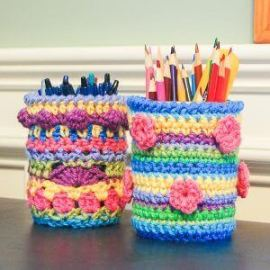crochet desk accessories