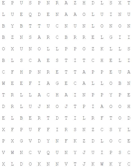 Hooky Word Search