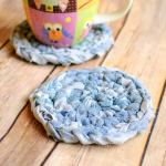 Fabric Crochet Coaster Pattern … Awesome Upcycles with #MyFavoriteBloggers