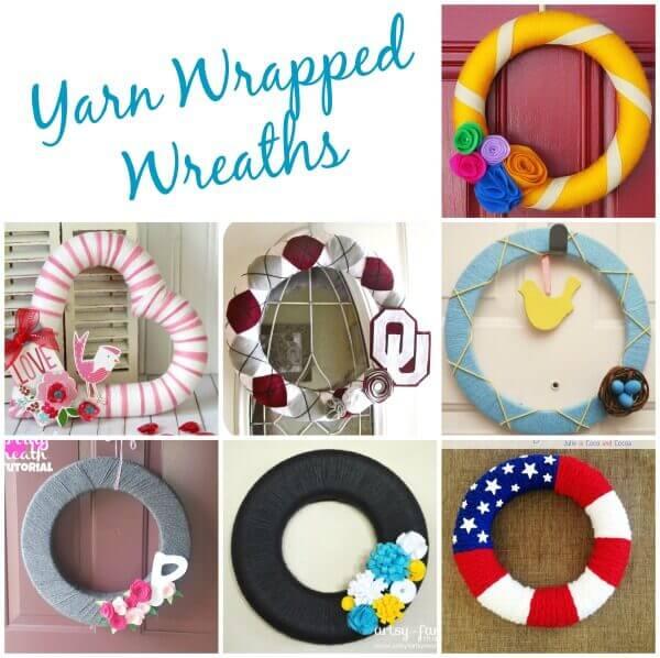 yarn wrapped wreaths