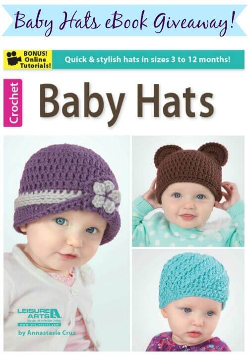 Crochet Baby Hats eBook Giveaway