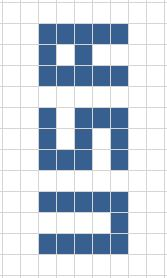 USA crochet colorwork grid